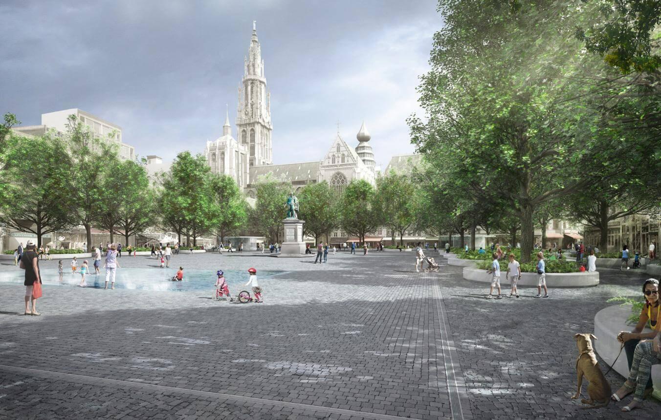 Groenplaats Antwerpen: Ontwerpfase